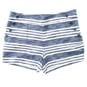 Loft blue & white striped Rivera shorts size 12
